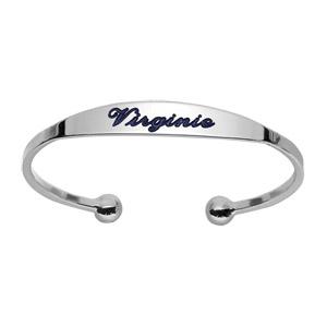 Bracelet jonc en argent esclave - moyen modèle - Vue 2