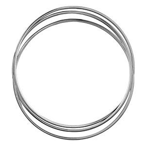 Bracelet jonc en argent trois anneaux - largeur 4mm et diamètre 66mm - Vue 2