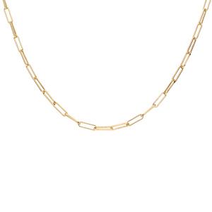 Collier en argent et dorure jaune maille rectanguulaire 38+4cm - Vue 2