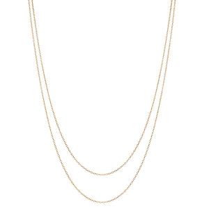 Collier en argent et dorure jaune double chaînes 40 et 45cm - Vue 2