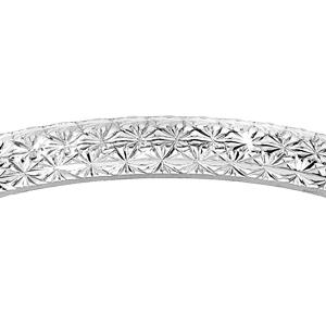 Alliance en argent rhodié diamantée en étoile largeur 2mm - Vue 2