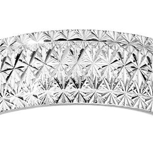 Alliance en argent rhodié diamantée en étoile finement travaillées largeur 6mm - Vue 2