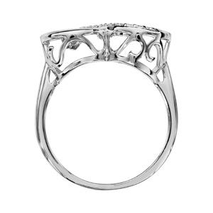 Bague Dancing Stone en argent rhodié infini et oxydes blancs - Vue 2
