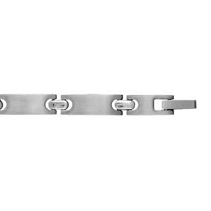 Bracelet pour enfant en acier maillons lisses - longueur 16cm - Vue 2