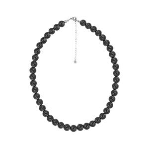 Collier en acier avec perles Hématite véritable 42+5cm - Vue 2