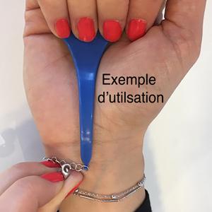 Accroche pour bracelet bleu - Vue 2