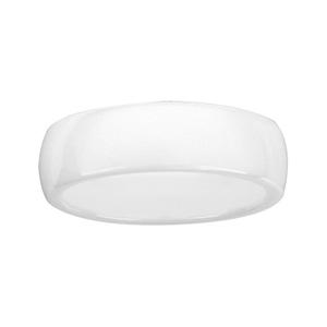 Alliance demi-jonc en céramique blanche 7mm - Vue 2