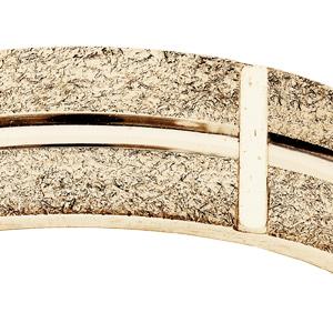 Alliance en vermeil ruban granitée diamantée largeur 6mm - Vue 2