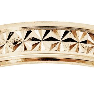 Alliance en vermeil diamantée étoile largeur 4mm - Vue 2