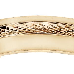 Alliance en vermeil diamantée et partie lisse largeur 6mm - Vue 2