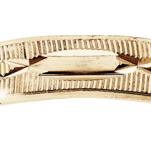 Alliance en vermeil diamantée croisée largeur 4mm - Vue 2