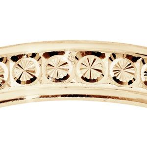 Alliance en vermeil diamantée rond finement ciselé largeur 4mm - Vue 2