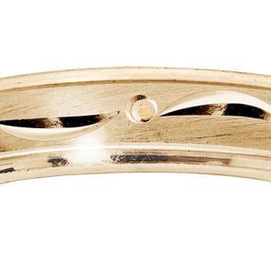 Bague en vermeil diamantée largeur 4mm - Vue 2