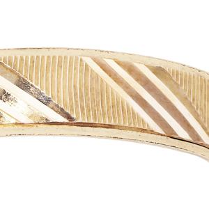Bague en vermeil diamantée striée largeur 4mm - Vue 2