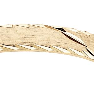 Alliance en vermeil brossé trait biais largeur 3mm - Vue 2