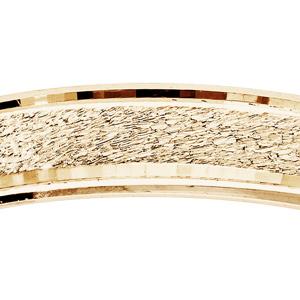 Alliance en vermeil mat et brillant largeur 4mm - Vue 2