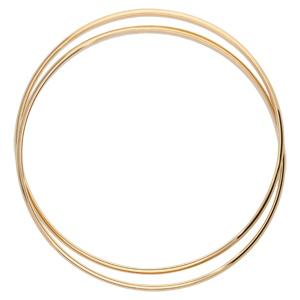 Bracelet demi jonc en plaqué or entrelacé 66mm - Vue 2
