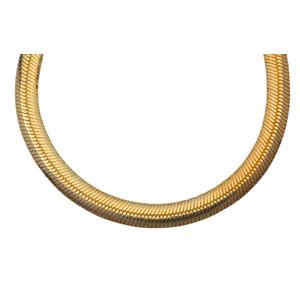 Bracelet en plaqué or chaîne maille miroir largeur 4mm et longueur 18cm - Vue 2