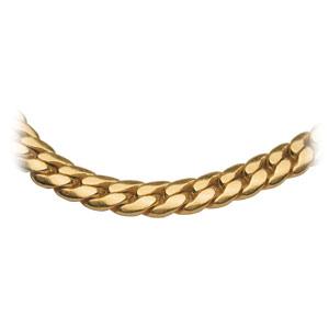 Bracelet en plaqué or maille serpent largeur 4mm et longueur 19cm - Vue 2