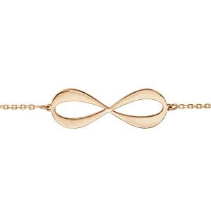 Bracelet en plaqué or chaîne symbole infini à graver 3 ou 4 prénoms - longueur 16cm + 3cm de rallonge - Vue 2