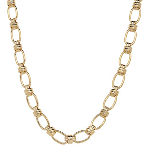 Collier en plaqué or grosses mailles ovales 41+6cm - Vue 2