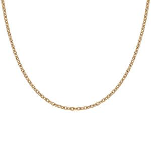 Chaîne en plaqué or maille forcat largeur 1,6mm et longueur 38cm - Vue 2