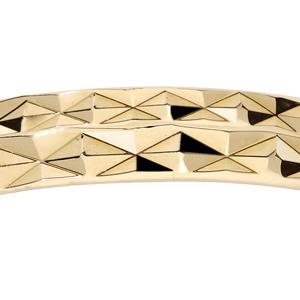 Alliance en plaqué or diamantée largeur 3mm - Vue 2