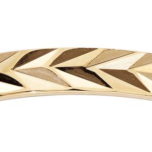 Alliance en plaqué or diamanté mixte largeur 3mm - Vue 2