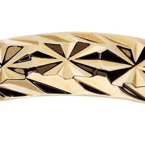 Alliance en plaqué or diamantée étoiles travaillées largeur 5mm - Vue 2