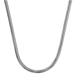 Collier en argent rhodié chaîne tube ronde pour charms et fermoir mousqueton - longueur 43cm - Vue 2