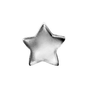 Charms Thabora en argent rhodié étoile lisse - Vue 2
