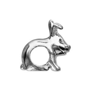 Charms Thabora en argent rhodié lapin - Vue 2