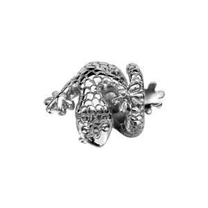 Charms Thabora en argent rhodié salamandre enroulée - Vue 2