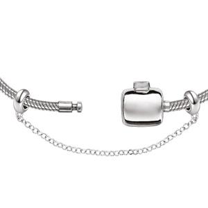 Charms Thabora stoppers en argent rhodié avec chaînette de sécurité - longueur 55mm - Vue 2