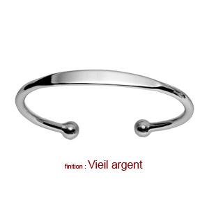 Bracelet jonc en argent esclave - petit modèle - Vue 3