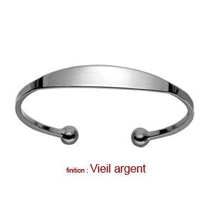 Bracelet jonc en argent esclave - moyen modèle - Vue 3