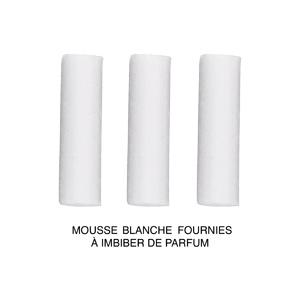 Collier avec Pendentif diffuseur de parfum tube de bois noir 50+5cm - Vue 3