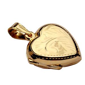 Pendentif en vermeil cassolette coeur ouvragé - possibilité d\'insérer 1 ou 2 photos droite et gauche - Vue 3