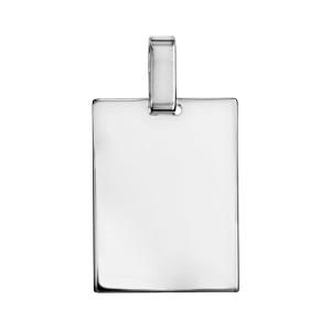 1001 Bijoux - Pendentif plaque G.I. en argent à graver - modèle moyen pas cher