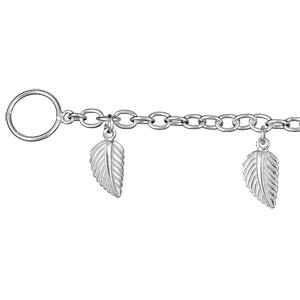 1001 Bijoux - Bracelet argent pampilles feuilles pas cher