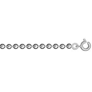 1001 Bijoux - Chaîne boules 40cm argent - 3 mm pas cher