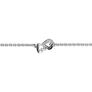 Image of Bracelet argent rhodié doubles coeurs découpés