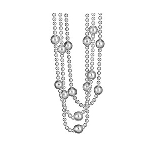 Image of Collier 3 rangs boules argent