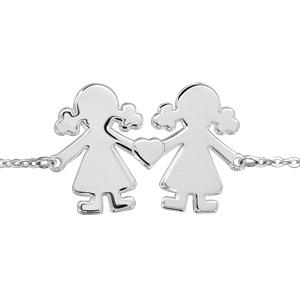 1001 Bijoux - Bracelet argent passivé fille/fille 16+3cm pas cher