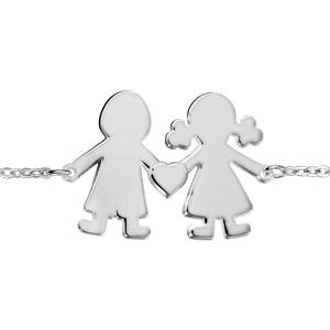 1001 Bijoux - Bracelet argent passivé fille/garçon 16+3cm pas cher