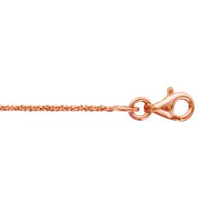 1001 Bijoux - Bracelet argent et dorure rose maille margherita 16+3cm pas cher