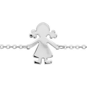 1001 Bijoux - Bracelet argent passivé fille 16+3cm pas cher
