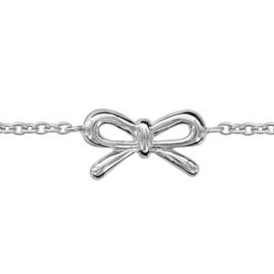1001 Bijoux - Bracelet argent rhodié noeud lisse 16+2cm pas cher