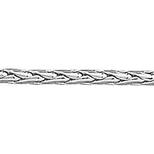 Image of Collier maille palmier argent 45cm