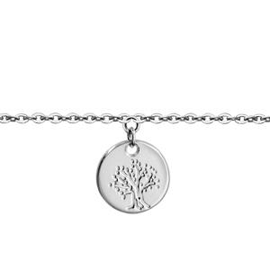 1001 Bijoux - Bracelet argent rhodié enfant médaille 10mm arbre de vie 14+2cm pas cher